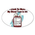 blood-type Sticker (Oval)