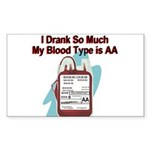 blood-type Sticker (Rectangle)