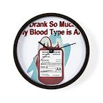 blood-type Wall Clock