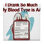 blood-type Tile Coaster