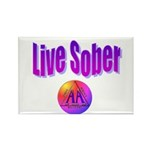 live-sober-aa Rectangle Magnet (10 pack)