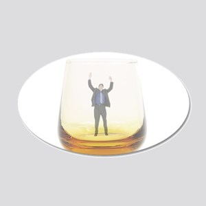 man-in-glass 20x12 Oval Wall Decal