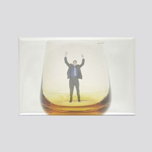 man-in-glass Rectangle Magnet