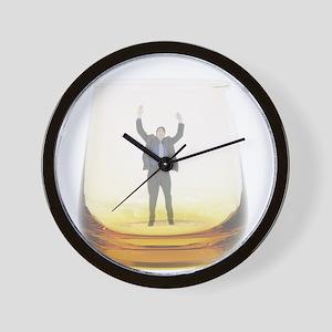 man-in-glass Wall Clock