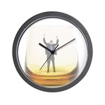 man-in-glass Wall Clock