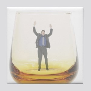 man-in-glass Tile Coaster