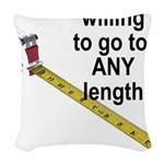 any-length Woven Throw Pillow