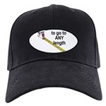 any-length Black Cap with Patch