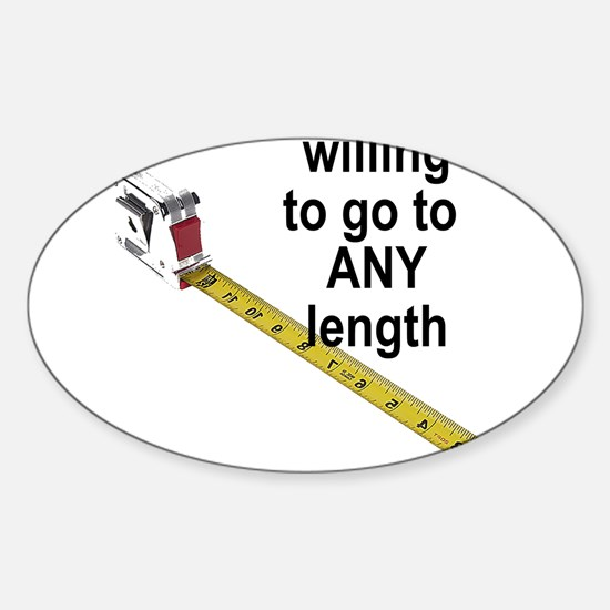 any-length.png Sticker (Oval)