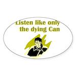 liten-like-dying Sticker (Oval 50 pk)