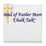 chalk-talk Tile Coaster