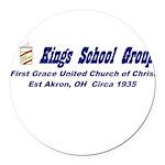 kings-street-group Round Car Magnet