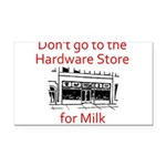 hardware-store-milk Rectangle Car Magnet