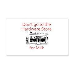 hardware-store-milk Car Magnet 20 x 12