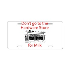 hardware-store-milk Aluminum License Plate