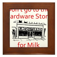 hardware-store-milk Framed Tile