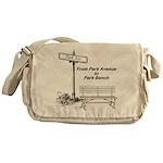 park-avenue-park-bench Messenger Bag