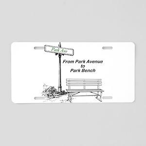park-avenue-park-bench Aluminum License Plate
