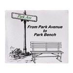 park-avenue-park-bench Throw Blanket