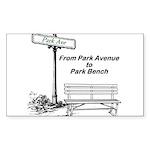 park-avenue-park-bench Sticker (Rectangle 10 p
