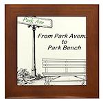 park-avenue-park-bench Framed Tile