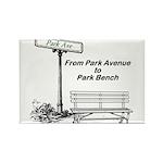 park-avenue-park-bench Rectangle Magnet (100 p