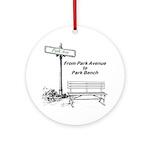 park-avenue-park-bench Round Ornament