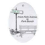 park-avenue-park-bench Oval Ornament
