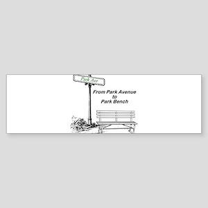park-avenue-park-bench Sticker (Bumper)