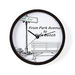 park-avenue-park-bench Wall Clock
