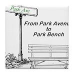 park-avenue-park-bench Tile Coaster