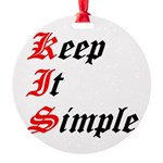 keep-it-simple Round Ornament
