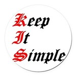 keep-it-simple Round Car Magnet
