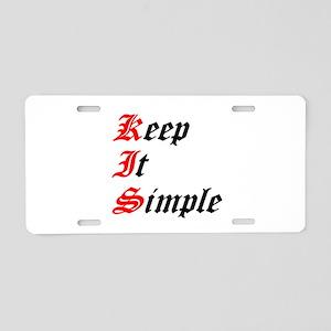 keep-it-simple Aluminum License Plate