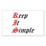 keep-it-simple Sticker (Rectangle 10 pk)