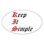 keep-it-simple Sticker (Oval 10 pk)