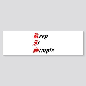 keep-it-simple Sticker (Bumper)