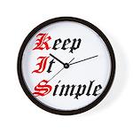 keep-it-simple Wall Clock