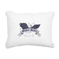 sober-biker Rectangular Canvas Pillow