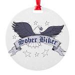 sober-biker Round Ornament