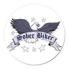 sober-biker Round Car Magnet