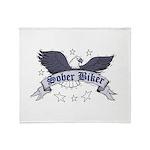 sober-biker Throw Blanket