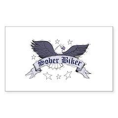 sober-biker Sticker (Rectangle 50 pk)