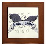 sober-biker Framed Tile