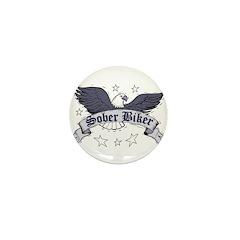 sober-biker Mini Button (10 pack)