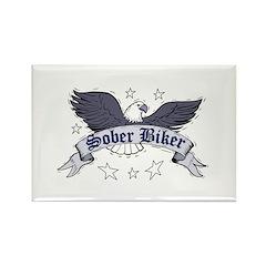 sober-biker Rectangle Magnet
