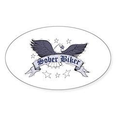sober-biker Sticker (Oval)