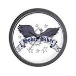 sober-biker Wall Clock