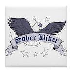 sober-biker Tile Coaster