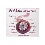 peel-back-layers Throw Blanket